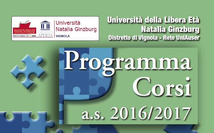Programma 2016-17: pagina iniziale