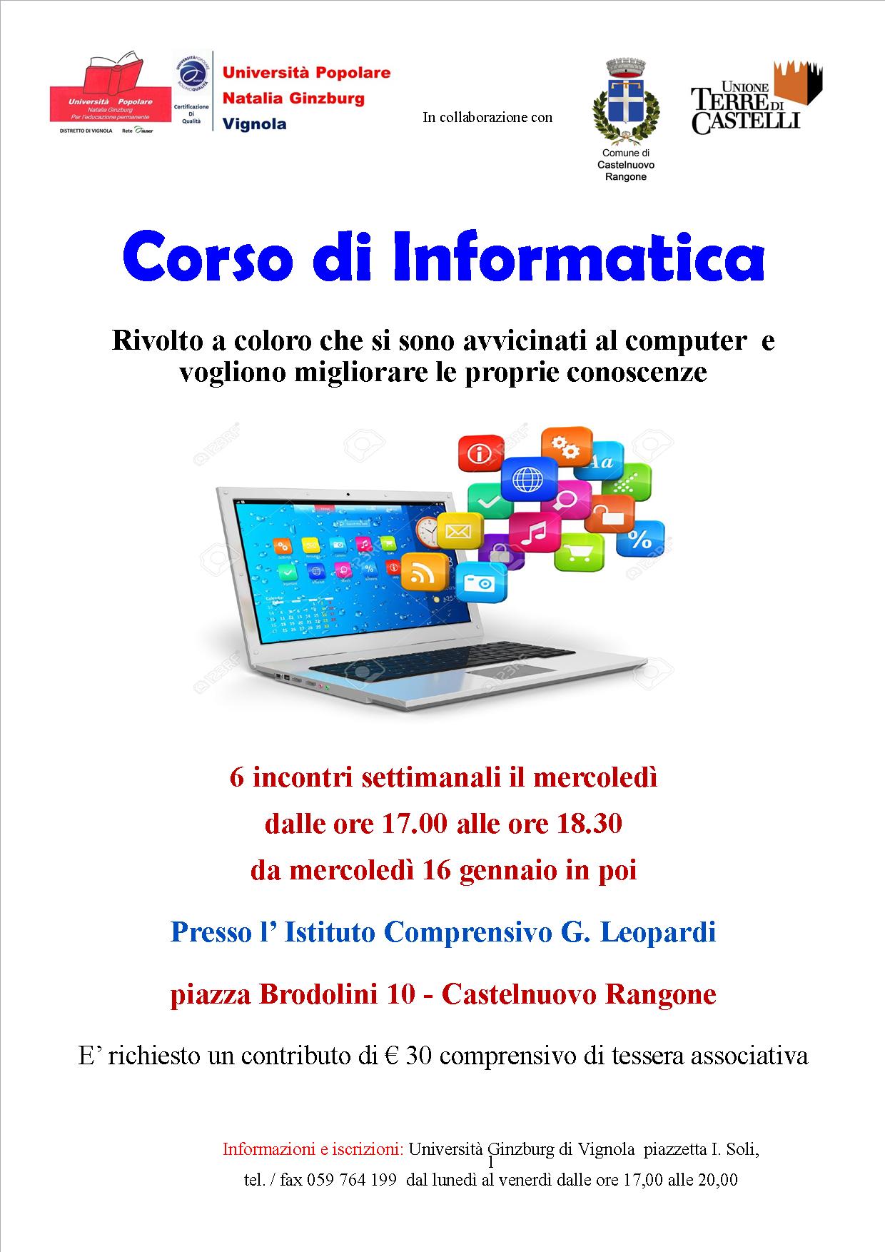 Corso di Informatica Castelnuovo Rangone