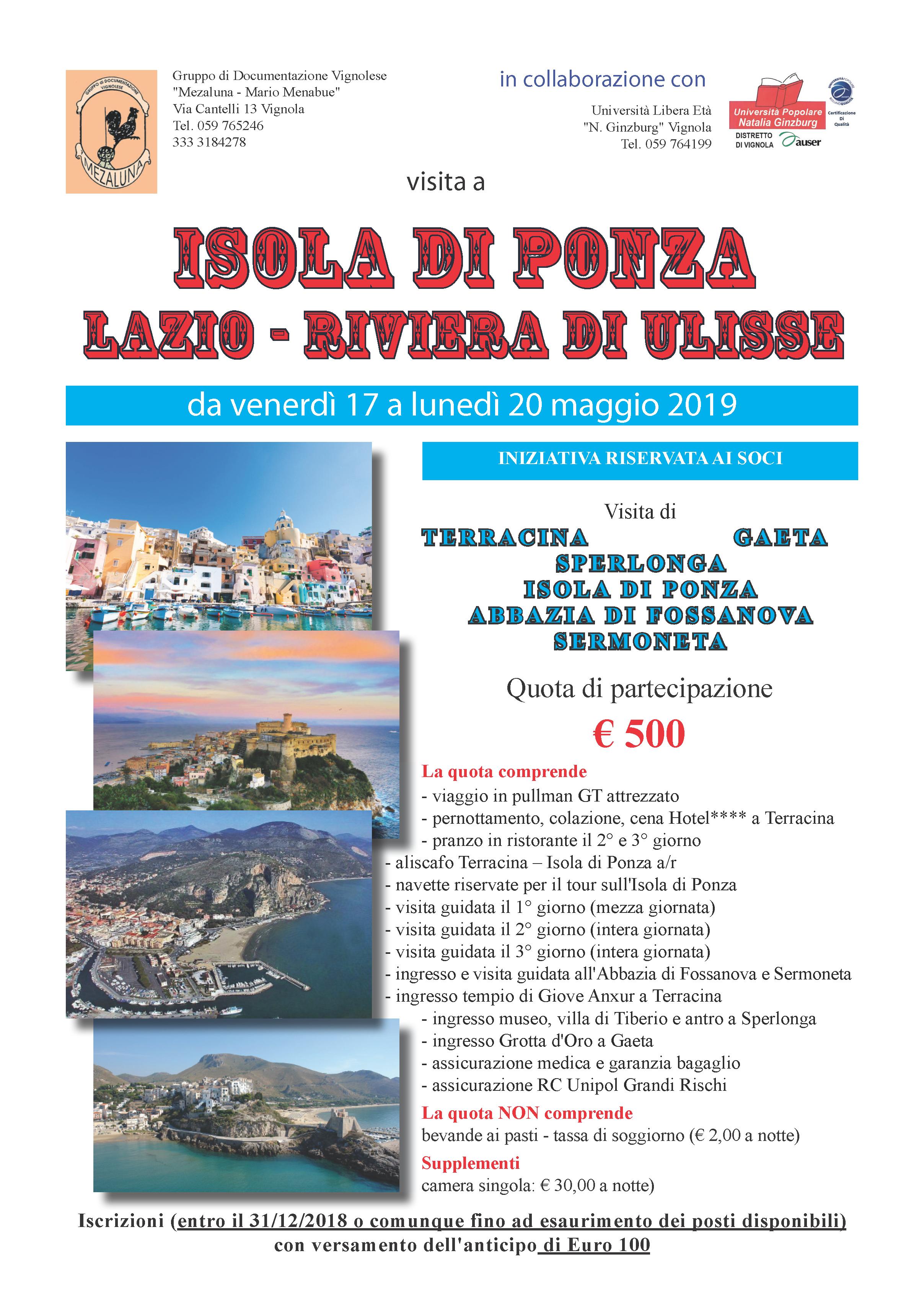 Volantino Isola di Ponza