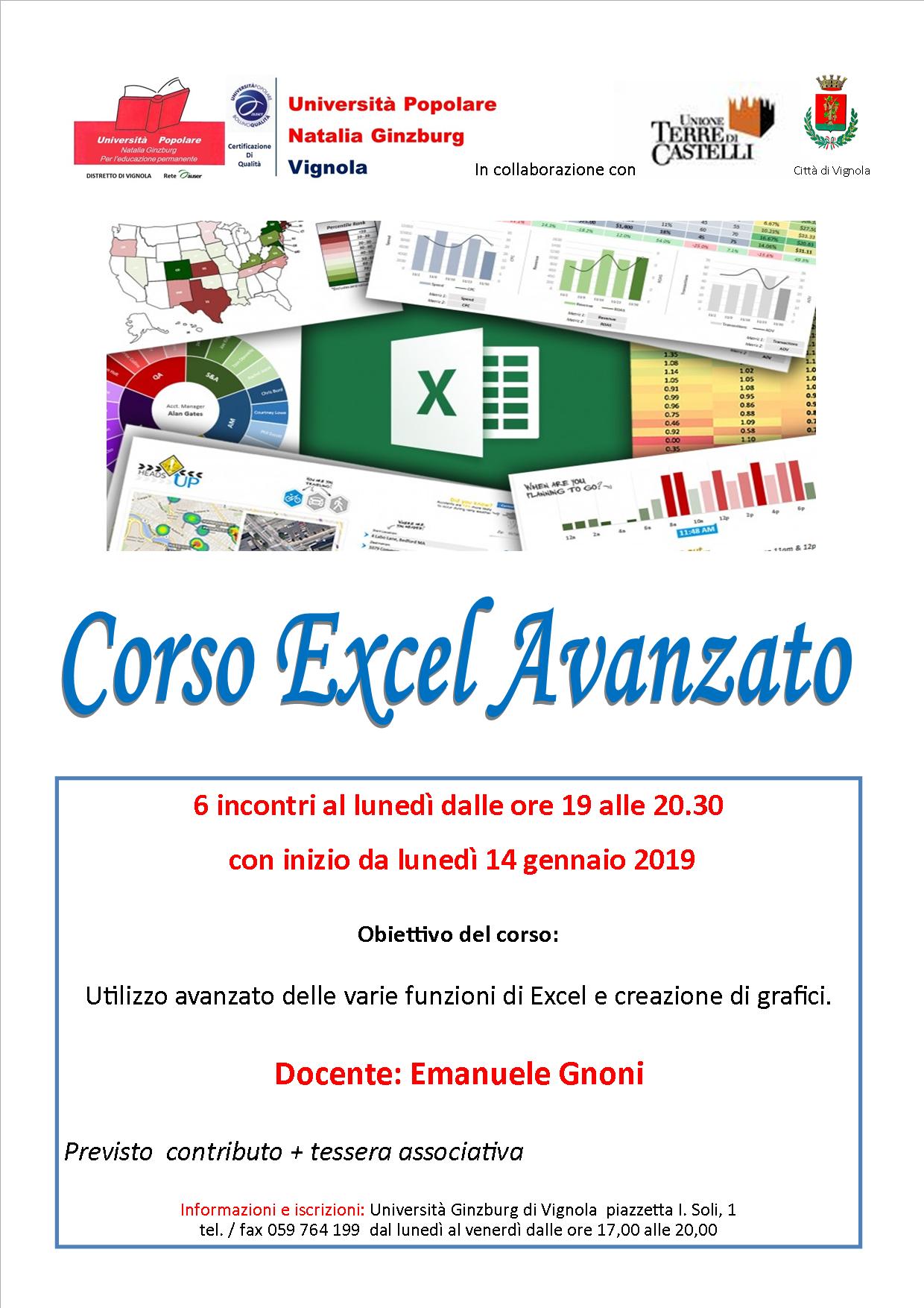 Corso di Excel (livello avanzato)