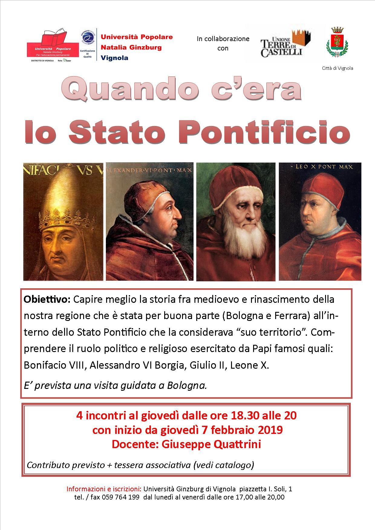 Quando c'era lo stato pontificio