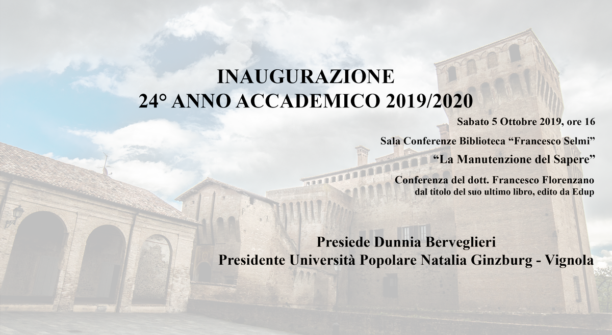 Inaugurazione a.a. 2019/2020