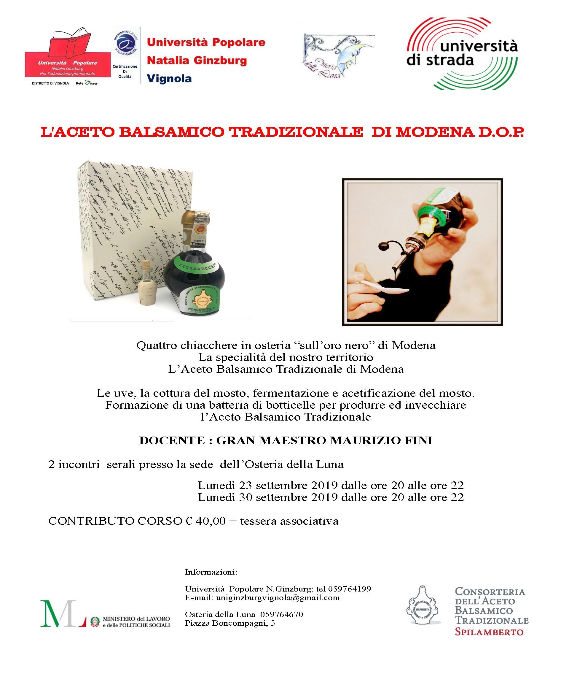 L'aceto Balsamico Tradizionale  Di Modena D.O.P.