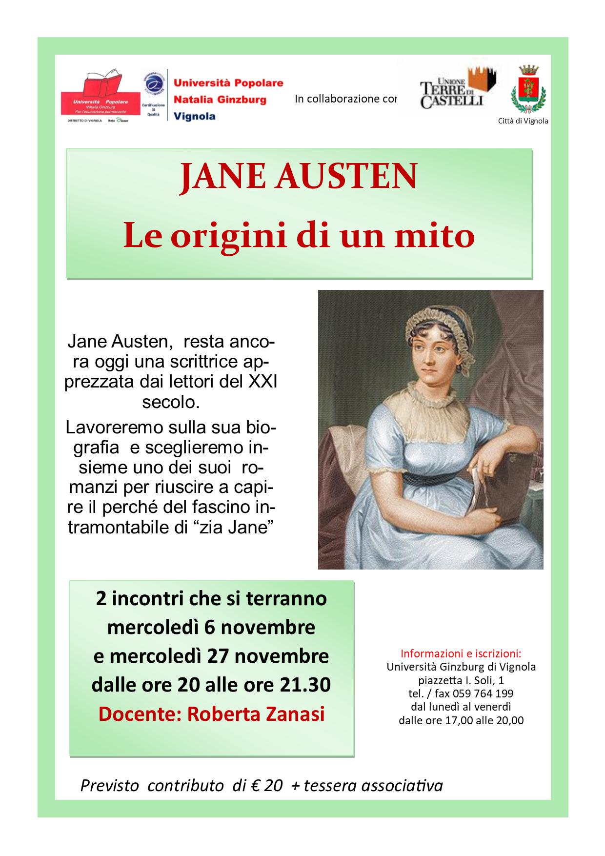 Volantino Jane Austen