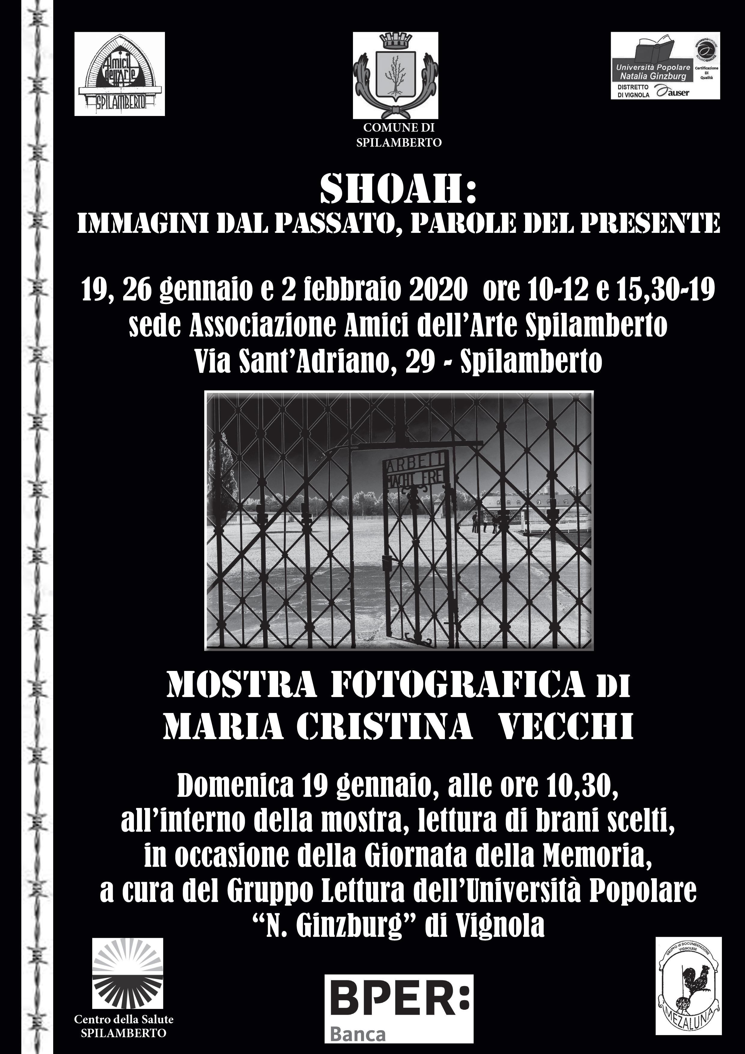 Volantino: Mostra fotografica sulla SHOA.