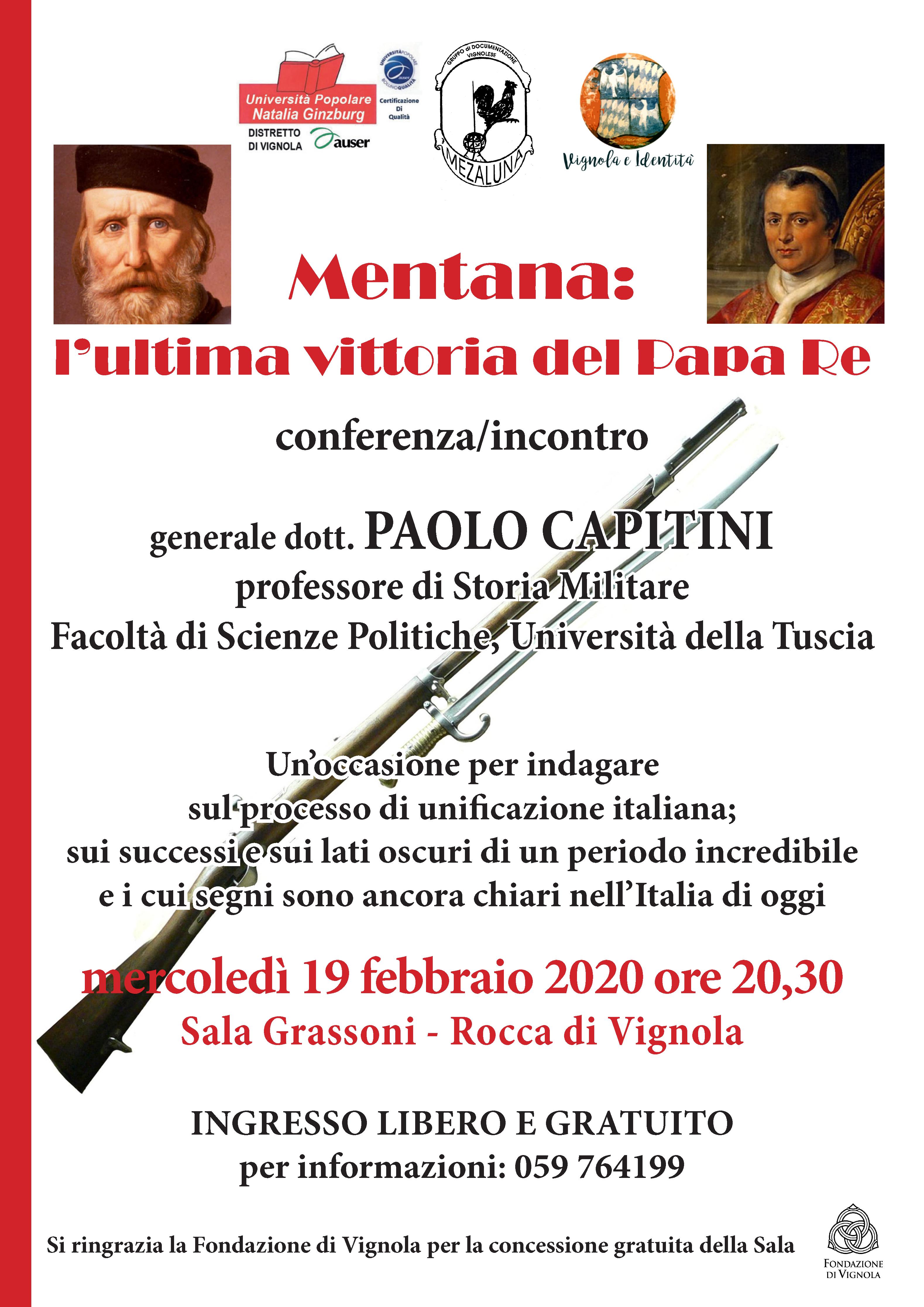 Volantino Mentana: l'ultima vittoria del papa re