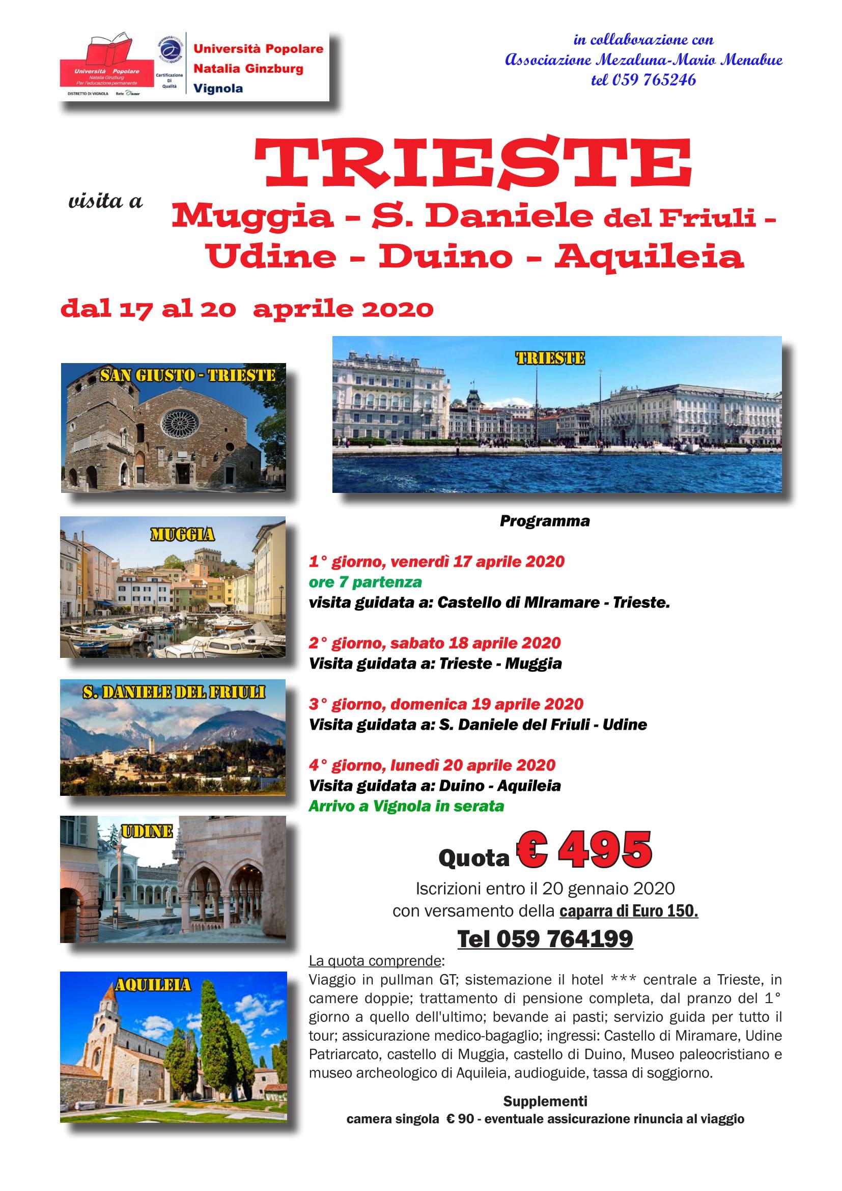 Volantino Visita a Trieste