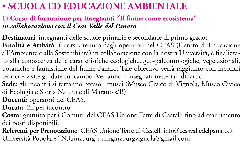 SCUOLA ED EDUCAZIONE AMBIENTALE