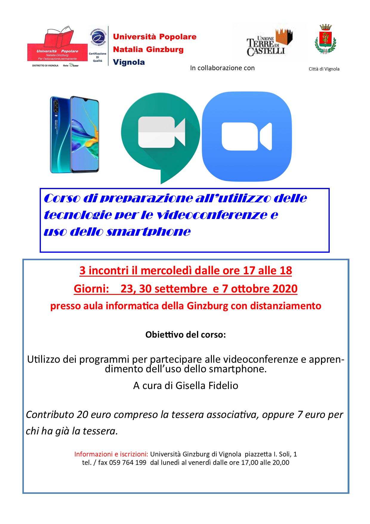 Volantino corso smartphone Settembre/Ottobre 2020
