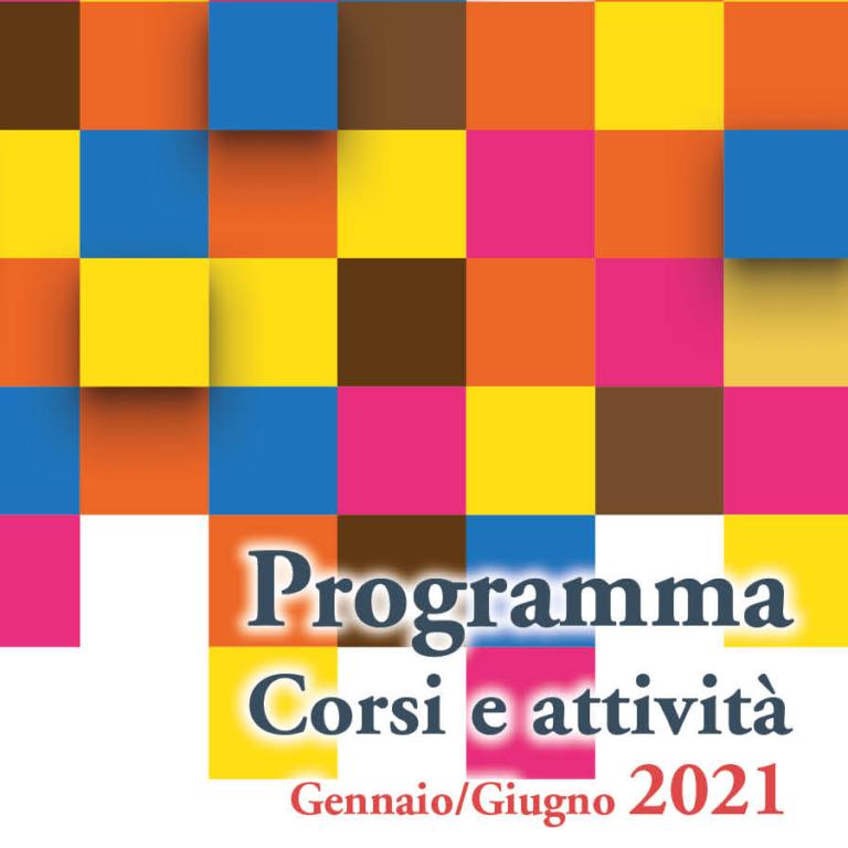 Copertina programma Università Ginzburg Vignola Gennaio-Giugno 2021
